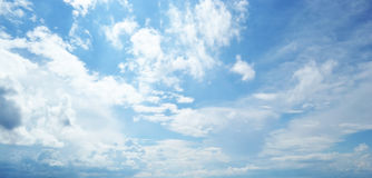 Blue sky and clouds. Royalty Free Stock Photo