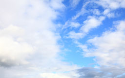 Blue sky with clouds meteorology Royalty Free Stock Photo
