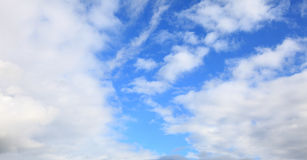 Blue sky with clouds meteorology Royalty Free Stock Photography