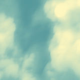 Blue Sky With Clouds. Modern pattern. Nature background. Modern pattern. Abstract Background. Vector Illustration Royalty Free Stock Image
