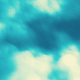 Blue Sky With Clouds. Modern pattern. Nature background. Modern pattern. Abstract Background. Vector Illustration Stock Image