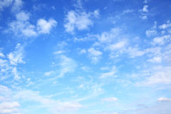 Blue sky with clouds. Natural background stock image