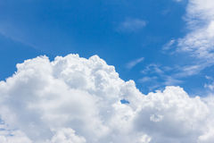 Blue sky with clouds,natural sky Royalty Free Stock Photo