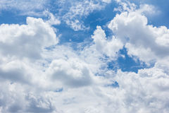 Blue sky with clouds,natural sky Royalty Free Stock Images
