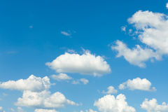 Blue sky with clouds. Nature background. Landscape Royalty Free Stock Photos
