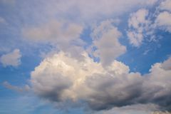 Blue sky with clouds dramatic background Royalty Free Stock Images