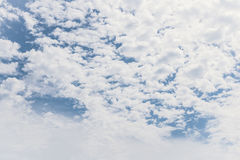 Blue sky with clouds. Nature blue sky with white clouds background Stock Image