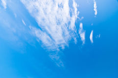 Blue sky and clouds at noon on clean air. Royalty Free Stock Photography