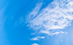 Blue sky and clouds at noon on clean air. Stock Photos