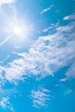 Blue sky and clouds at noon on clean air. Stock Image
