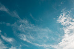 Blue sky clouds. Outdoor white Royalty Free Stock Images