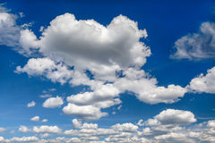 Blue sky with clouds outlook Royalty Free Stock Photos