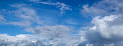 Blue sky with clouds Royalty Free Stock Image