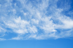 Blue sky and clouds over horizon. Stock Photo
