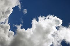 Blue sky and clouds over Maui. Stock Photography