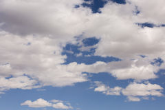 Blue sky clouds over National Park in California and Nevada sky. United State Of America Royalty Free Stock Images