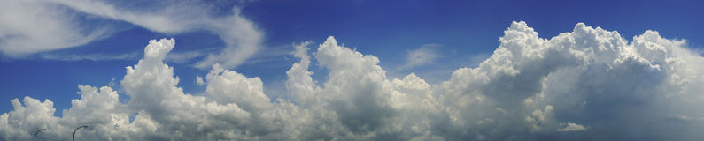 Blue sky and clouds panorama Royalty Free Stock Photography