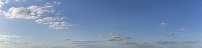 Blue sky with clouds - panorama. To insert in pictures Stock Photography
