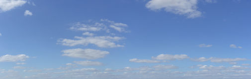 Blue sky with clouds - panorama. To insert in pictures Royalty Free Stock Images