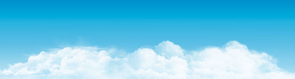 Blue sky with clouds panorama. Vector. Background Royalty Free Illustration