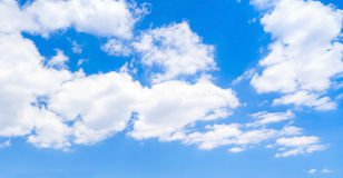 Blue sky with clouds, panoramic background Stock Photography