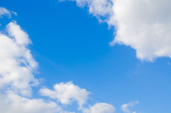 Blue sky and clouds Royalty Free Stock Photos
