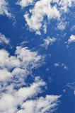 Blue Sky And Clouds Portrait Aspect Stock Photography