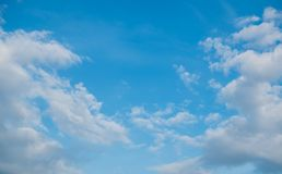Blue sky and clouds. Stock Photos