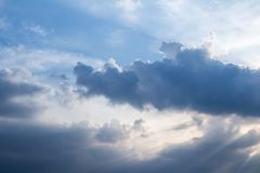 Blue Sky And Clouds. before rain.  Royalty Free Stock Images