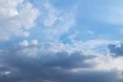 Blue Sky And Clouds. before rain.  Stock Images