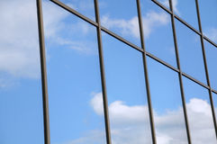 Blue Sky and Clouds Reflection Royalty Free Stock Image