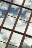 Blue sky and clouds reflection Royalty Free Stock Images