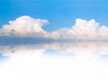 Clouds reflection in water Stock Image