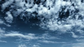 Blue sky and clouds scene. Peaceful heaven deep blue white clouds royalty free stock photos
