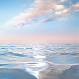 Blue sky with clouds on the sea Stock Photos