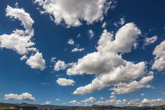 Blue Sky with Clouds. Shoot in an Italian Countryside Royalty Free Stock Photo