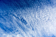 Blue sky clouds Stock Photography