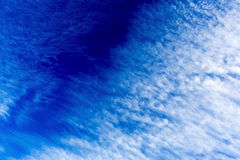 Blue sky clouds royalty free stock photo