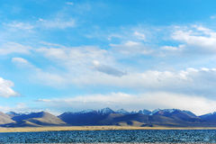 Sky clouds moutain lake Royalty Free Stock Image