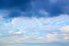 Blue sky clouds and storm Royalty Free Stock Photography