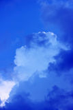 blue sky with clouds before the storm. Stock Photography