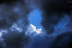 blue sky with clouds before the storm. Stock Images