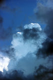 blue sky with clouds before the storm. Stock Photo