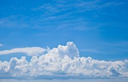 Blue sky and clouds in the summer Royalty Free Stock Images