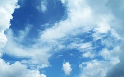 Blue sky. With clouds in summer royalty free stock images