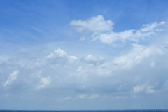 Blue sky clouds. Blue sky with clouds summer background Royalty Free Stock Photos