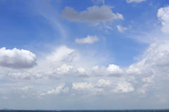 Blue sky clouds. Blue sky with clouds summer background Stock Photo