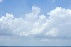 Blue sky clouds. Blue sky with clouds summer background Stock Photography