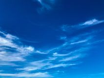 Blue sky with clouds. Blue sky and clouds in summer Stock Photo