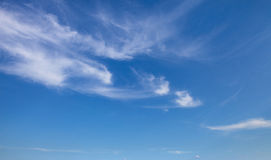 Blue sky with clouds. summer day Royalty Free Stock Photos